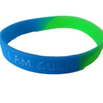 green blue wristband