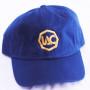 Navy Blue | Gold Baseball Cap [Top View]