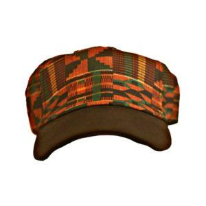 Kente Fabric Baseball Cap [Front View]